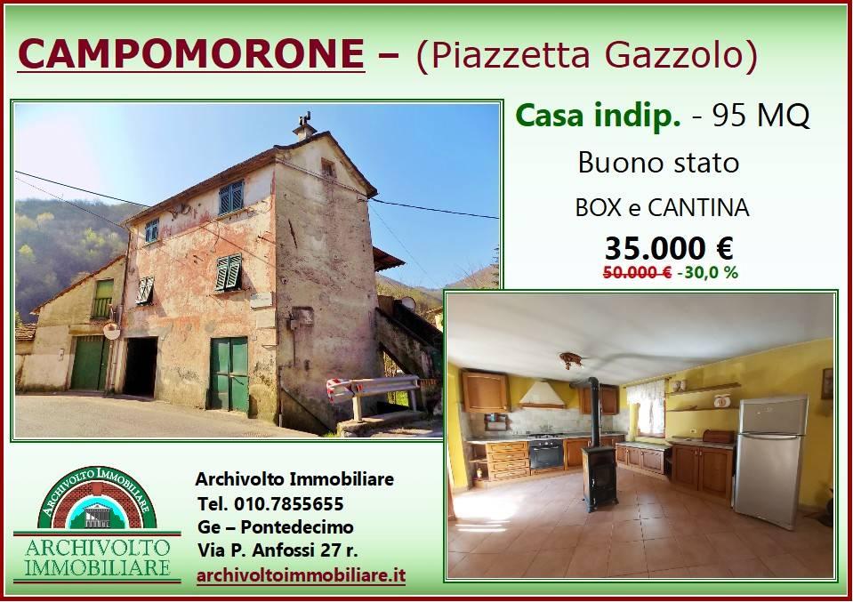 Foto 1 di Casa indipendente via Lombardo Gazzol 32, Campomorone