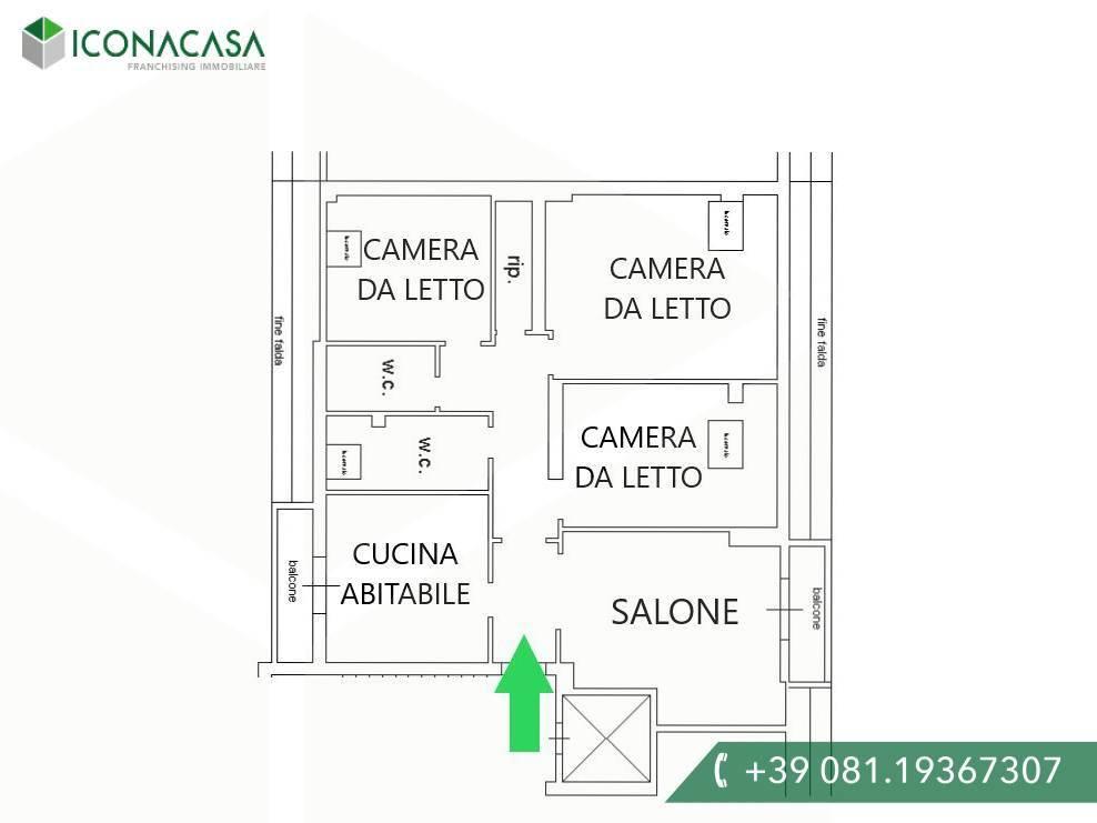 Attico / Mansarda in vendita a Giugliano in Campania, 4 locali, prezzo € 148.000 | PortaleAgenzieImmobiliari.it
