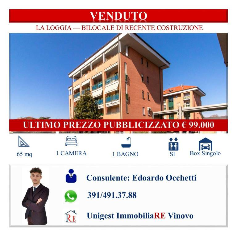 Appartamento in vendita a La Loggia, 2 locali, prezzo € 99.000   PortaleAgenzieImmobiliari.it