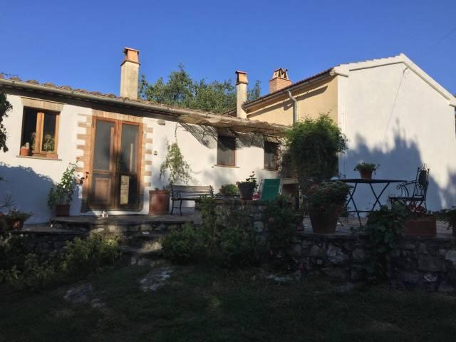 Antico podere in pietra intonacata in zona Morellino