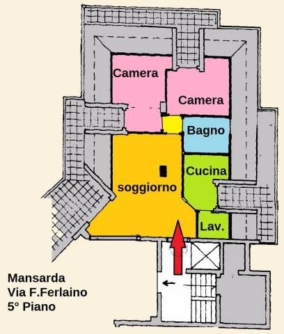 Lamezia Nicastro Via F. Ferlaino mansarda arredata