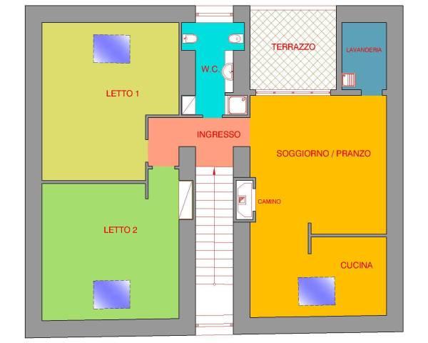 Attico / Mansarda in affitto a Mercato San Severino, 3 locali, prezzo € 380 | Cambio Casa.it