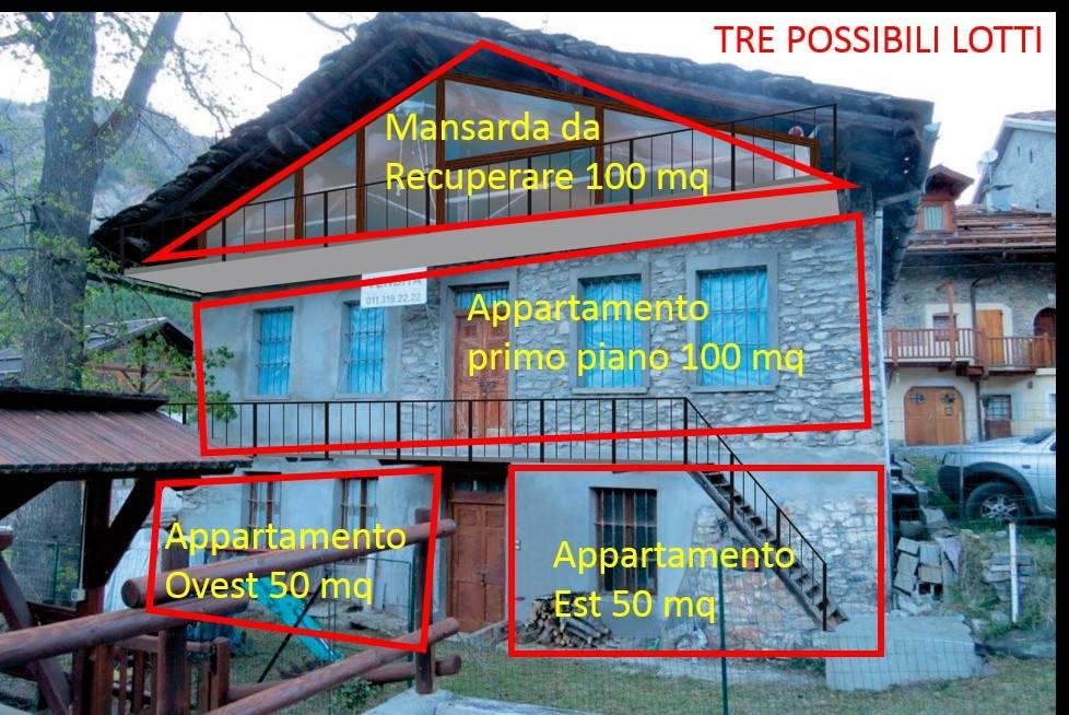 Foto 1 di Rustico / Casale Frazione Mollieres , 36, frazione Mollieres, Cesana Torinese