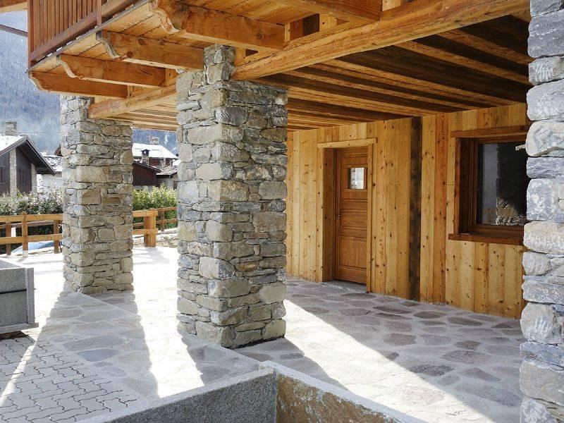 Morgex La Ruine, bilocale con giardino e porticato, nuova costruzione