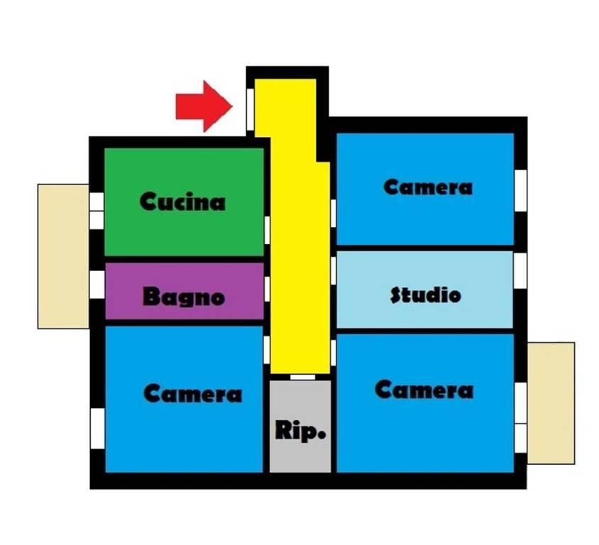 Stanza / posto letto in affitto Rif. 7421400