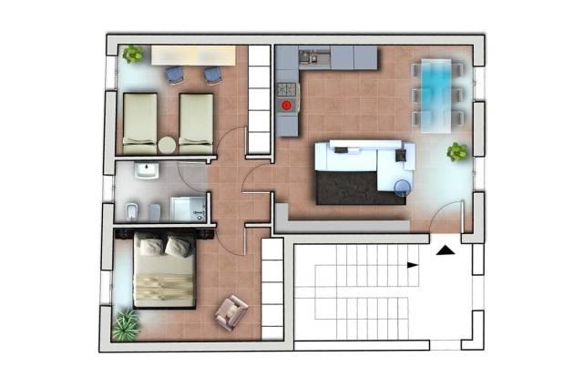 Luminoso appartamento piano primo in contesto ristrutturato