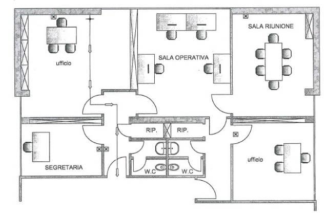 Ufficio-studio in Affitto a Perugia Centro: 5 locali, 110 mq