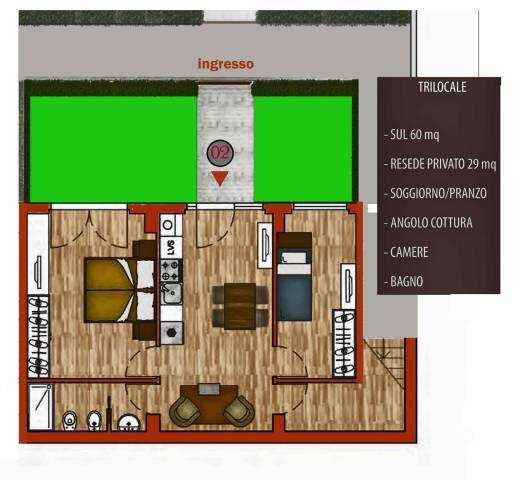 Appartamento in vendita 3 vani 60 mq.  via Urbano Rattazzi Firenze