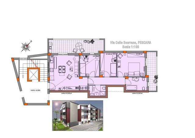 Appartamento quadrilocale in vendita a Pescara (PE)