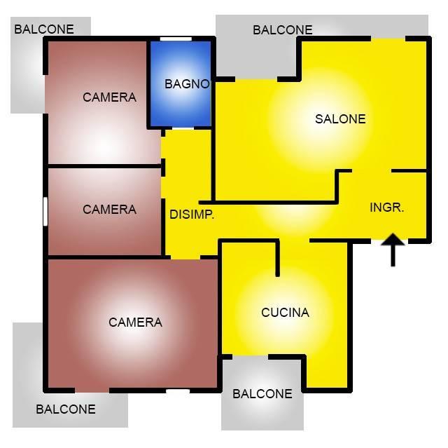 Appartamento in vendita a Roma, 4 locali, zona Zona: 34 . Bufalotta, Sette Bagni, Casal Boccone, Casale Monastero, Settecamini, prezzo € 219.000 | CambioCasa.it