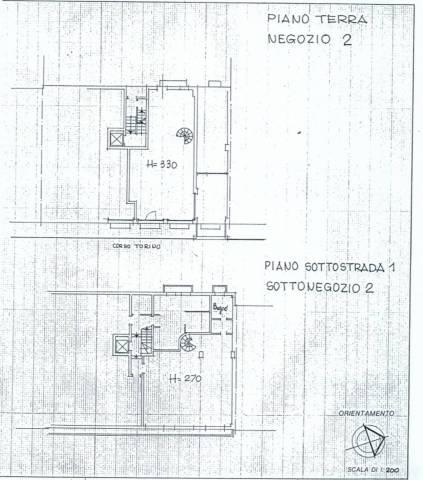 Novara, ampio locale commerciale