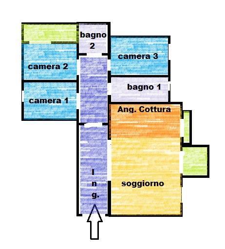 Appartamento in ottime condizioni in affitto Rif. 7019736