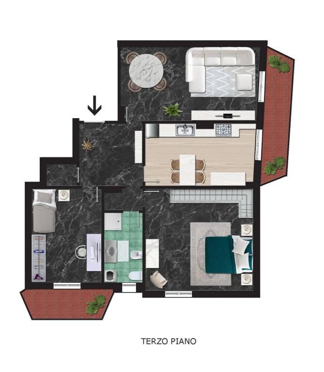 Appartamento in buone condizioni arredato in affitto Rif. 7594232