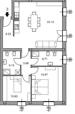 Appartamento da ristrutturare in vendita Rif. 7663436