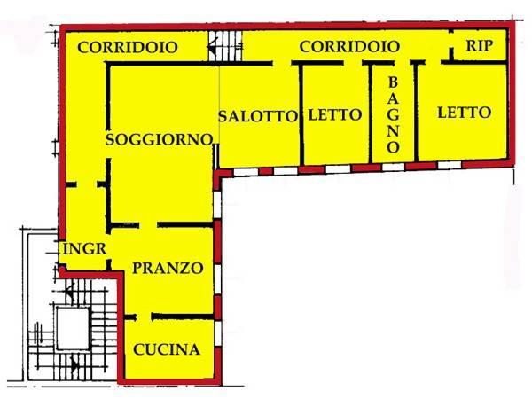 Appartamento in vendita a Ostiglia, 5 locali, prezzo € 110.000   CambioCasa.it