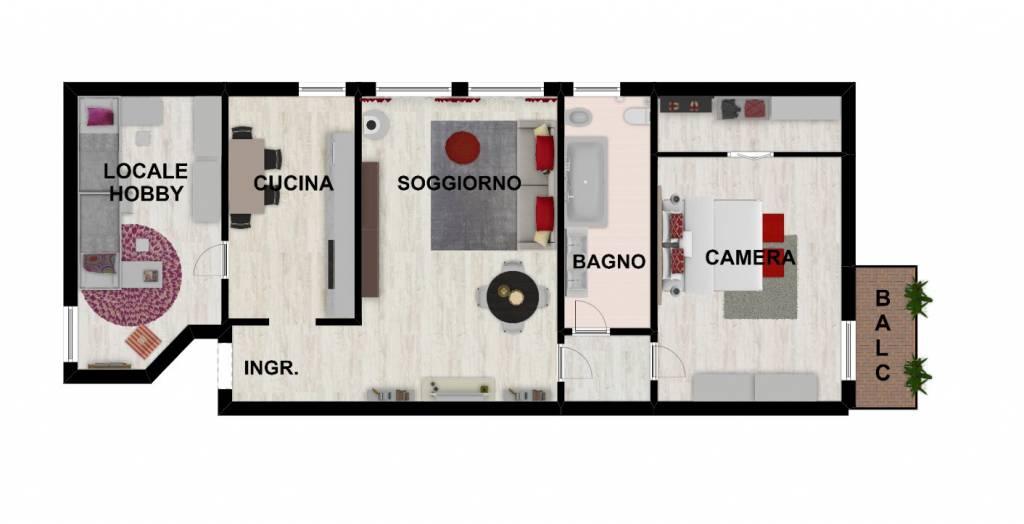 Appartamento in ottime condizioni in vendita Rif. 9162695