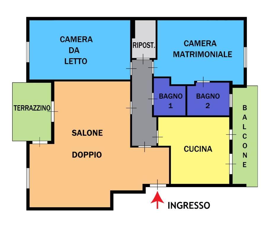 Appartamento in ottime condizioni in vendita Rif. 8371926