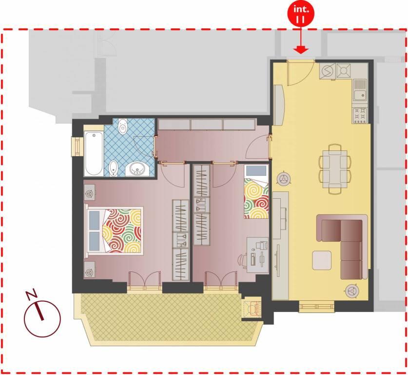 Appartamento nuova costruzione luminoso al piano 2
