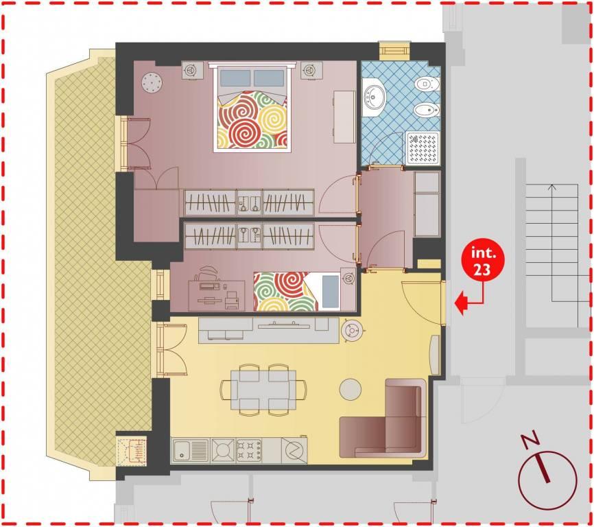 Nuovo Appartamento luminoso al piano 5