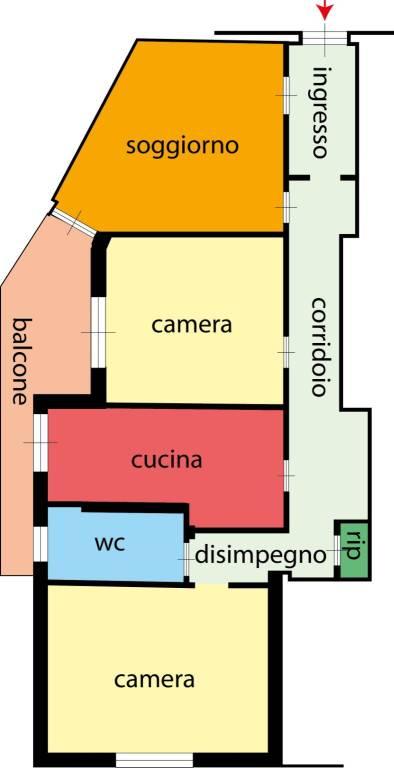 Appartamento in buone condizioni in vendita Rif. 8508604