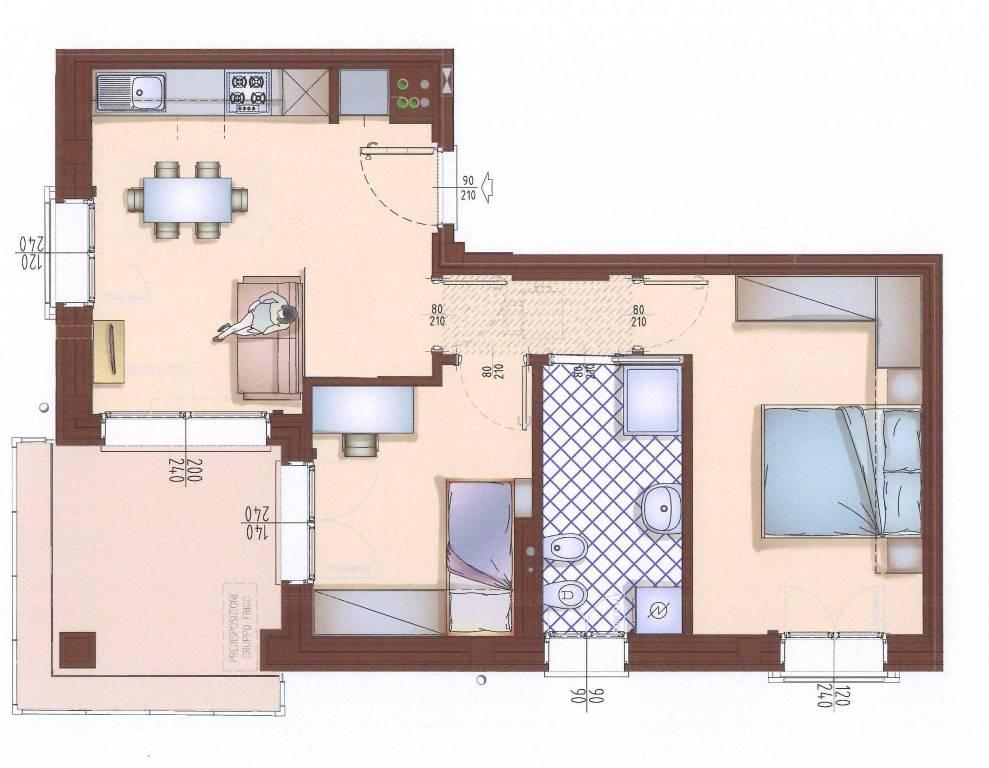 Appartamento in buone condizioni in affitto Rif. 9147446