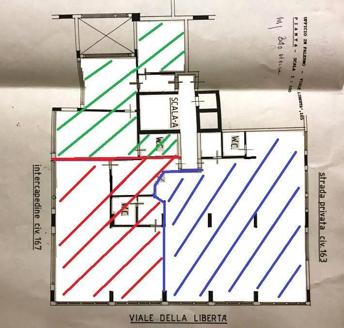 Uffici in Via Libertà varie quadrature Rif. 8911924