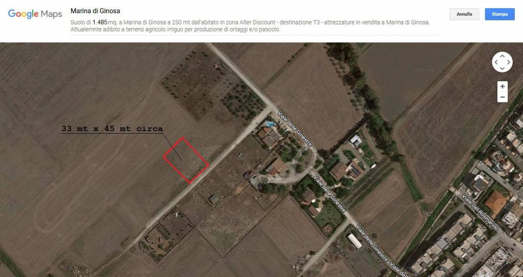 Terreno commerciale in Vendita a Ginosa Periferia: 1485 mq  - Foto 1