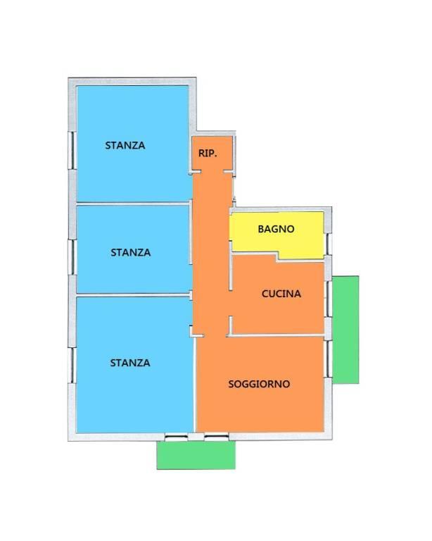 Appartamento da ristrutturare in vendita Rif. 9258322