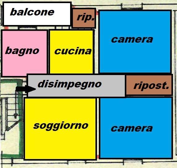 Appartamento in buone condizioni in vendita Rif. 9317339