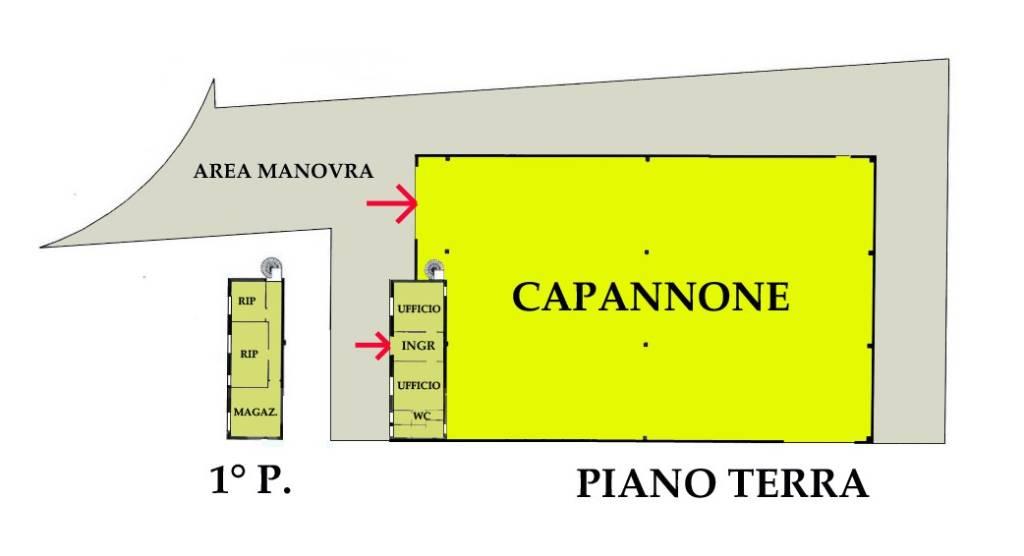 Capannone in vendita a San Giorgio di Mantova, 6 locali, prezzo € 95.852 | CambioCasa.it