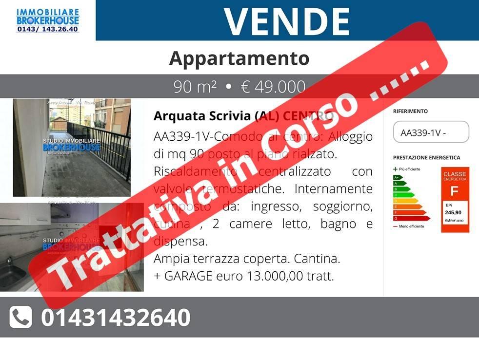 """ARQUATA S.Via Roma- centro """"TRILOCALE + Box e Cantina"""