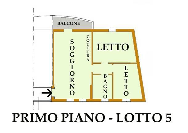 Appartamento in vendita a Ostiglia, 3 locali, prezzo € 32.166   CambioCasa.it