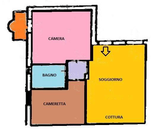 Appartamento in ottime condizioni parzialmente arredato in vendita Rif. 9324964