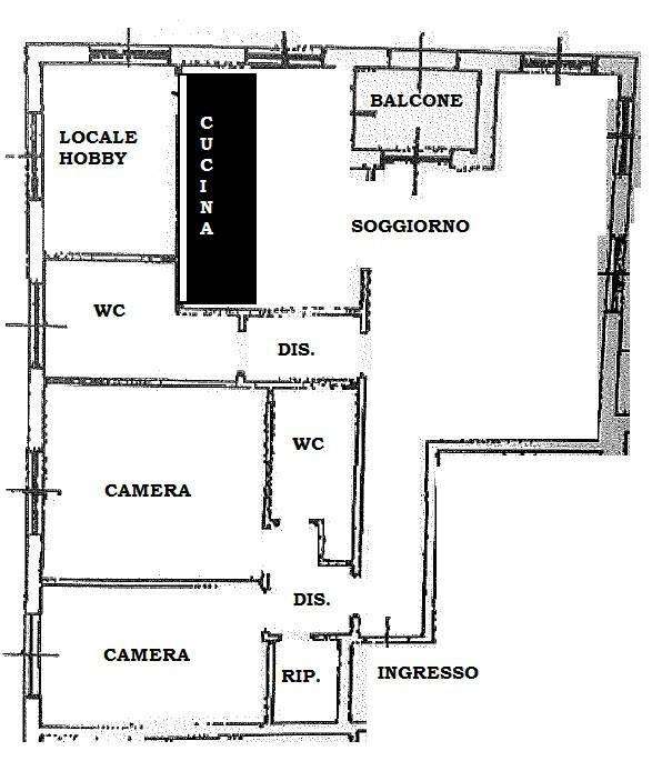Appartamento in buone condizioni in vendita Rif. 8885154