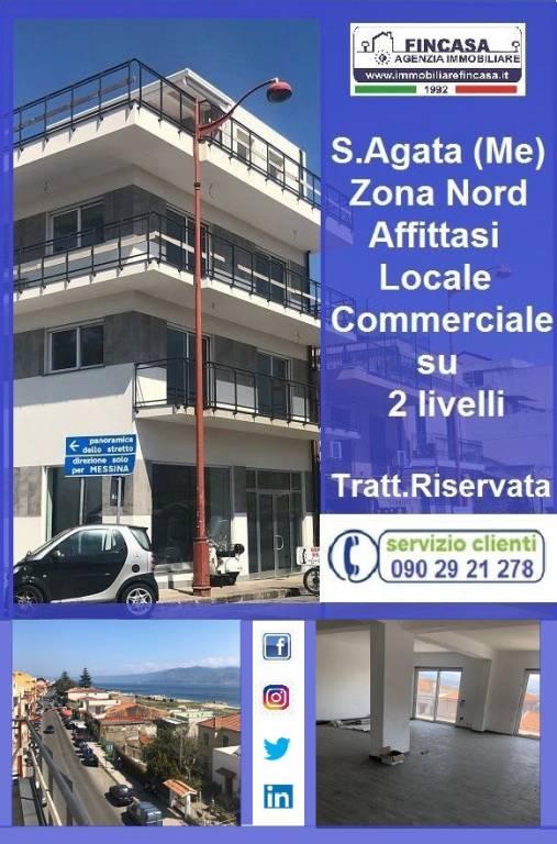 Negozio-locale in Affitto a Messina Periferia Nord: 2 locali, 160 mq