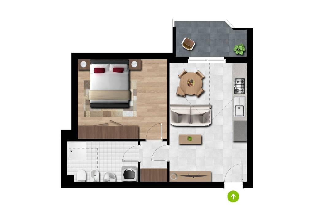 Appartamento in vendita a Arluno, 2 locali, prezzo € 125.000 | CambioCasa.it