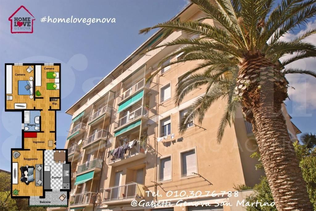 Foto 1 di Appartamento via Enrico Razeto, Genova (zona S.Fruttuoso-Borgoratti-S.Martino)
