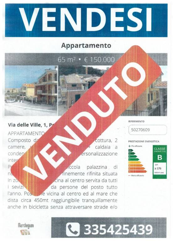 Appartamento trilocale in vendita a Porto Recanati (MC)