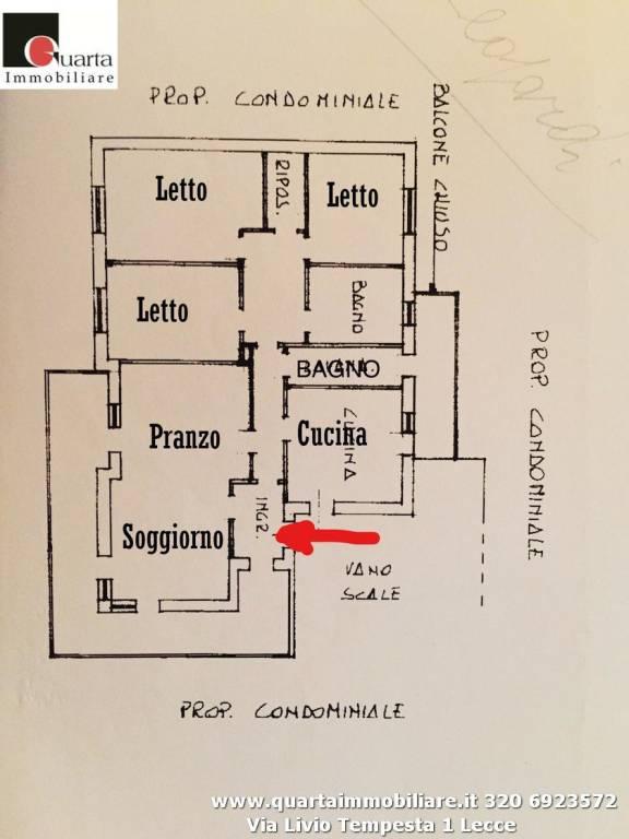 Appartamento in Affitto a Lecce Semicentro: 5 locali, 151 mq