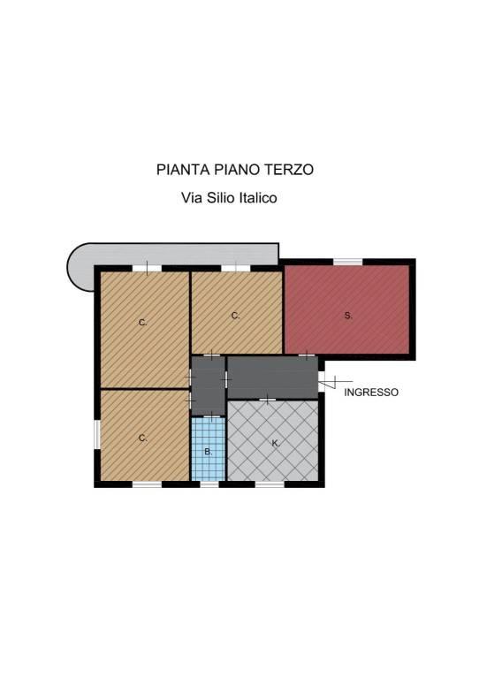 Appartamento via Silio Italico