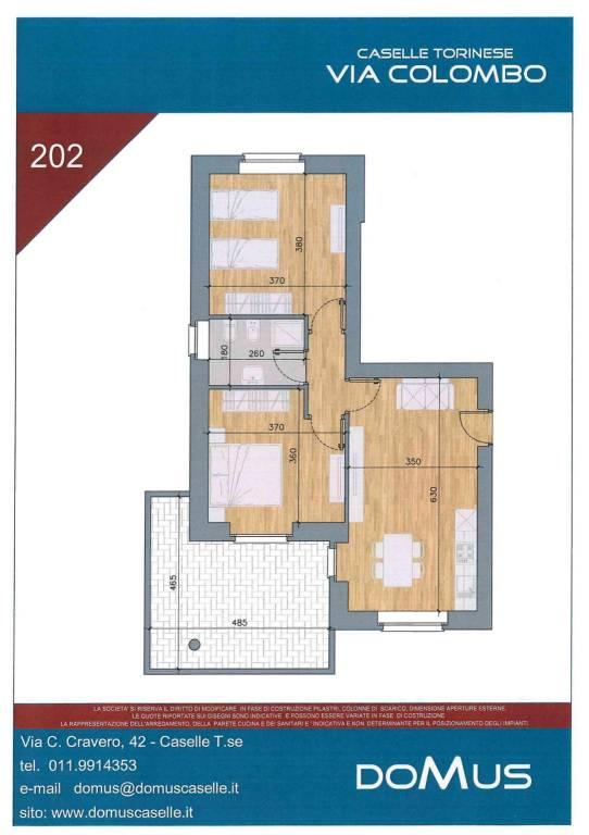 Appartamento in vendita via Cristoforo Colombo Caselle Torinese