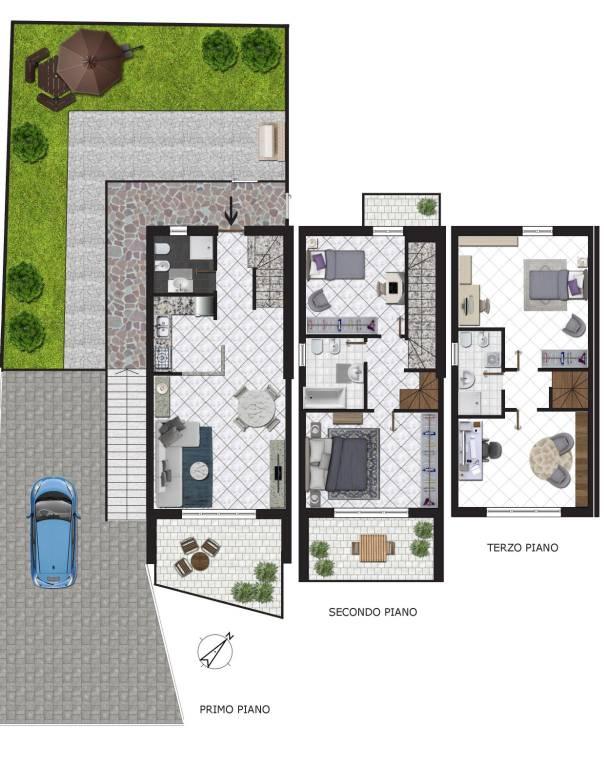 Appartamento semi-indipendente con affacci panoramici
