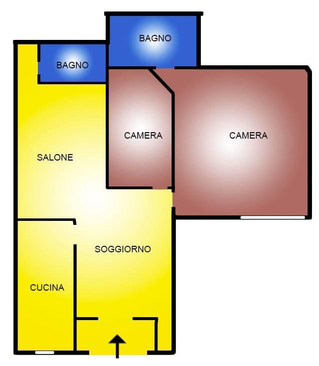 Appartamento in vendita a Campagnano di Roma, 3 locali, prezzo € 70.000 | CambioCasa.it