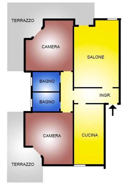 Appartamento in vendita a Campagnano di Roma, 3 locali, prezzo € 200.000 | CambioCasa.it