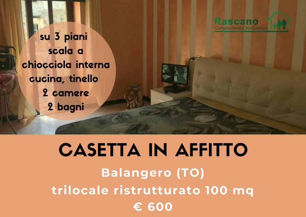 Foto 1 di Trilocale via Canavese, Balangero