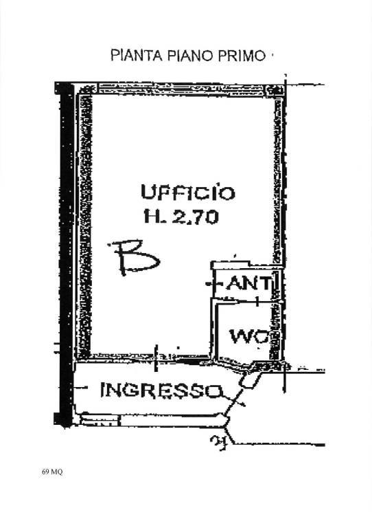 Ufficio-studio in Affitto a Correggio: 1 locali, 69 mq