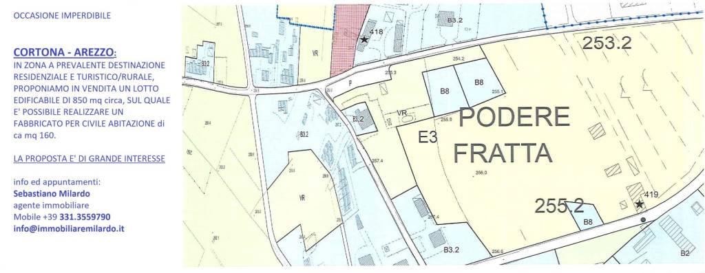 Terreno residenziale in Vendita a Cortona Periferia: 850 mq
