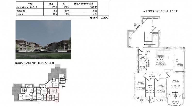 Appartamento in Vendita a Spilamberto: 3 locali, 112 mq