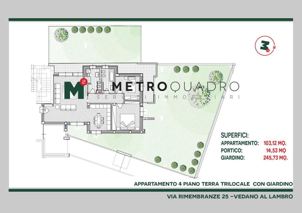 Appartamento in vendita a Vedano al Lambro, 3 locali, prezzo € 390.985 | CambioCasa.it