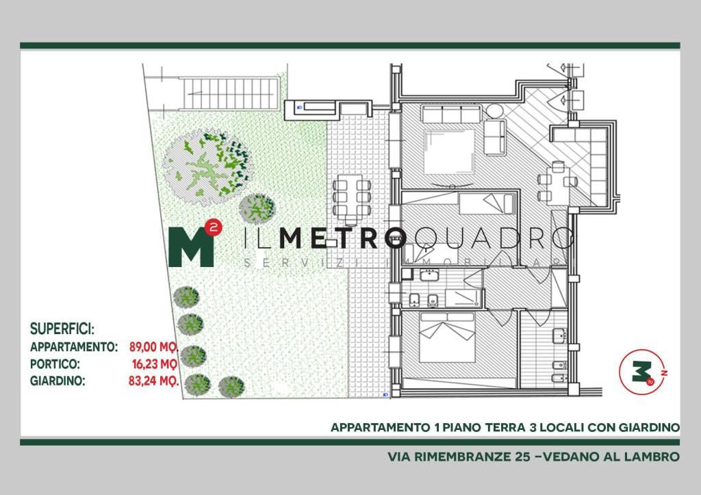 Appartamento in vendita a Vedano al Lambro, 3 locali, prezzo € 324.570 | CambioCasa.it